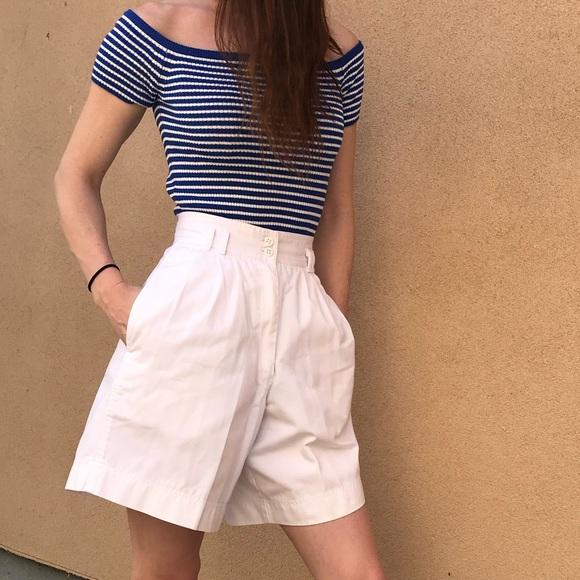 Pants - Vintage High-Waisted Culottes Shorts
